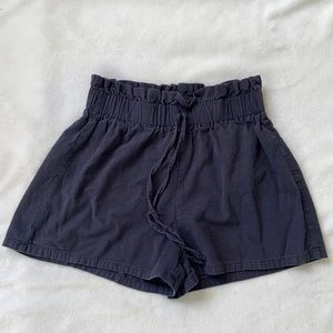 Shein navy paper bag cotton shorts medium